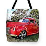 Red 1940 Ford Deluxe Coupe Tote Bag