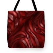 Red Abstract Texture Tote Bag