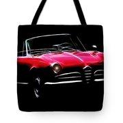 Red Alfa Romeo 1600 Giulia Spider Tote Bag