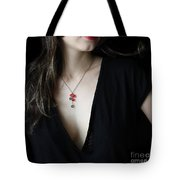 Red And Black Tote Bag by Eena Bo