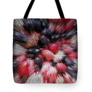 Red And Black Explosion #01 Tote Bag