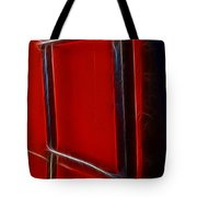 Red And Black Train Ladder Tote Bag