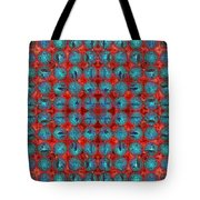 Red And Blue Abstract Tote Bag