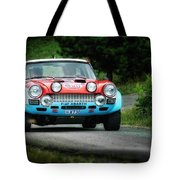 Red And Blue Fiat Abarth Tote Bag