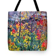 Red And Gold In Quarry At Elephant Rocks State Park Tote Bag