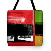 Red And Green Square Tote Bag