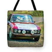 Red And White Lancia Tote Bag