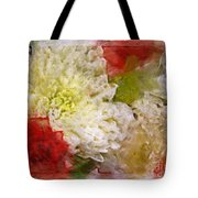 Red And White Mums Photoart Tote Bag
