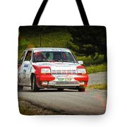 Red And White Renault 5 Tote Bag