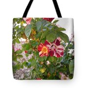 Red And White Roses 3 Tote Bag