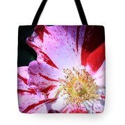 Red And White Speckled Flower Tote Bag