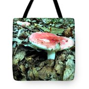 Red And White Wild Mushroom Tote Bag