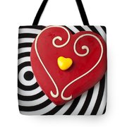 Red And Yellow Heart Tote Bag by Garry Gay