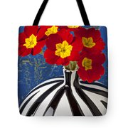 Red And Yellow Primrose Tote Bag by Garry Gay