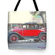 Red Antique Rumble Seater Tote Bag