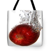 Red Apple Dropped Tote Bag
