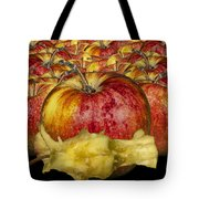 Red Apples And Core Tote Bag