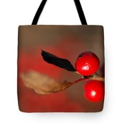 Red As A Winterberry Tote Bag
