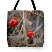 Red Asparagus Berries Tote Bag