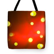 Red Background With Gold Dots Tote Bag