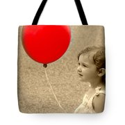 Red Baloon Tote Bag