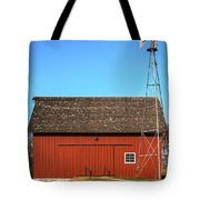 Red Barn And Windmill Tote Bag