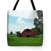 Red Barn On The Horizon Tote Bag