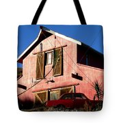 Red Barn Red Car Tote Bag