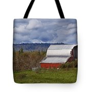 Red Barn With Tin Roof Tote Bag