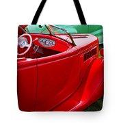 Red Beautiful Car Tote Bag