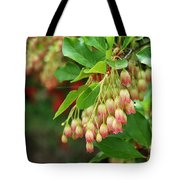Red Bell Flowers 3 Tote Bag