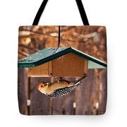 Red-bellied Woodpecker At Lunch Tote Bag
