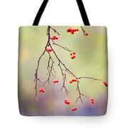 Red Berrries Tote Bag