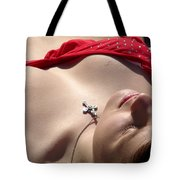 Red Bikini 4 Tote Bag by Jeff Lowe