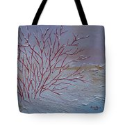Red Branches Tote Bag