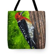 Red Breasted Sapsucker Tote Bag