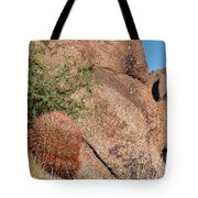 Red Cactus Rock Tote Bag