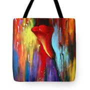Red Calla Lily Tote Bag