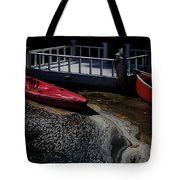 Red Canoes Tote Bag by Daniele Smith