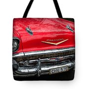 Red Chevvy Tote Bag