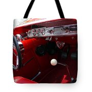 Red Chevy Impala Tote Bag