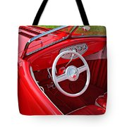 Red Classic Car Tote Bag