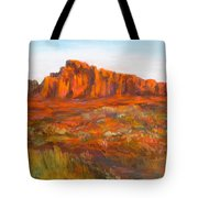 Red Cliffs Tote Bag by Jack Skinner