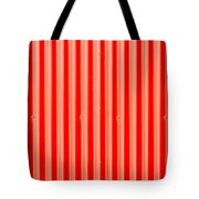 Red Corrugated Metal Tote Bag