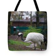 Red Crowned Crane Tote Bag