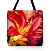 Red Day Lily Tote Bag