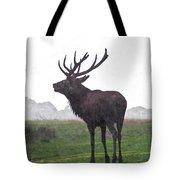 Red Deer Painting Tote Bag