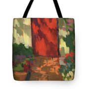 Red Door - Shadow And Light Tote Bag
