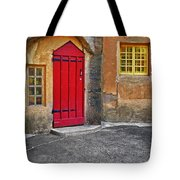 Red Door And Yellow Windows Tote Bag