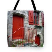 Red Door In Laroche Bernard Tote Bag